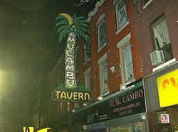 The El Mocambo marquee on Spadina Ave.